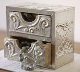 Pottery Barn Metal Clad Mini Jewelry Box