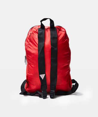 GUESS Classic Triangle Logo Foldable Backpack Red