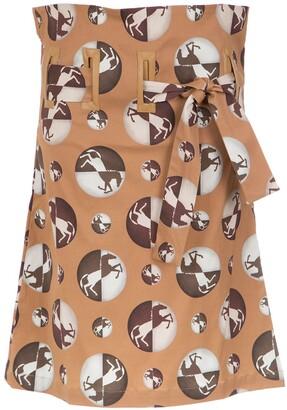 Adriana Degreas High Waist Midi Skirt