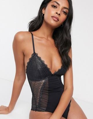 Dorina Darcey lace backless body in black