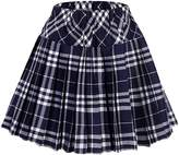 Urban CoCo Women's High Waist Pleated School Tartan Mini Plaid Skirts (2XL, )