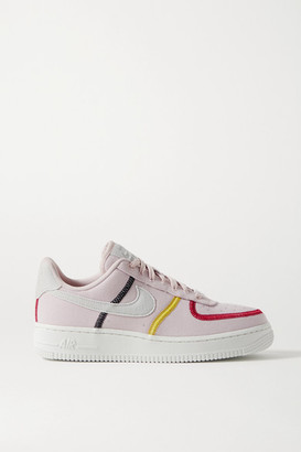 Nike Air Force 1 '07 Suede-trimmed Canvas Sneakers - Blush