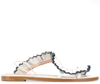 RED Valentino RED(V) ruffled sandals
