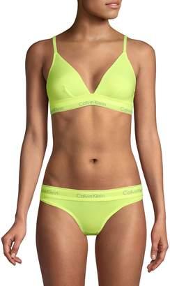 Calvin Klein Underwear Modern Cotton-Blend Triangle Bralette