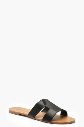boohoo Wide Fit Sliders