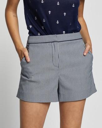 Marcs - Women's White Shorts - Macie Stripe Short - Size One Size, 8 at The Iconic