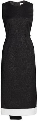 Comme des Garcons Sleeveless Jacquard Drape Midi Dress