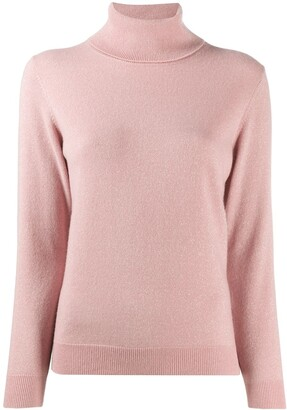 N.Peal Sparkle Fine Knit Jumper With Roll Neck