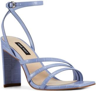 Nine West Square Toe Strappy Dress Sandals - Zelina