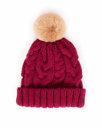 Powder Charlotte Pom Pom Hat (Raspberry)