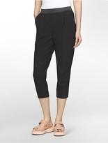 Calvin Klein Platinum Modern Stretch Pinch Pleat Wide Pants