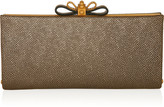 Cleo textured-leather clutch