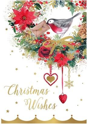 Simson The Smith Family Charity Christmas Boxed Cards, Robin Wreath - 10