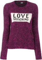 Love Moschino glitter logo jumper