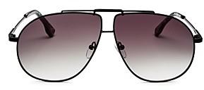 Le Specs Luxe Unisex Le Pear Brow Bar Aviator Sunglasses, 62mm