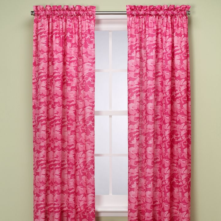 Bed Bath & Beyond Camouflage 84-Inch Window Panel in Pink