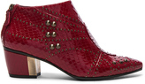 Rodarte Embossed Studded Leather Booties