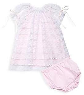 Isabel Garreton Baby Girl's 2-Piece Poem Lace Bishop Dress With Bloomers