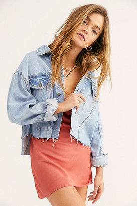 We The Free Amelia Slouchy Trucker Jacket by at Free People Denim