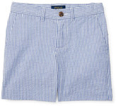 Ralph Lauren Striped Stretch Seersucker Shorts, Provincetown Blue, Size 5-7