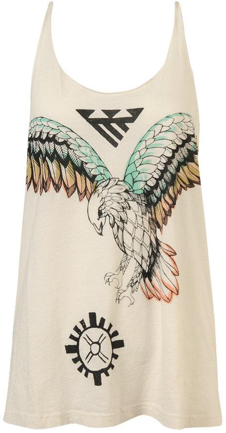 Forever 21 Watercolor Falcon Tunic