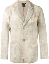 Avant Toi chest pocket textured blazer - men - Linen/Flax - L