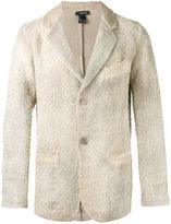 Avant Toi chest pocket textured blazer - men - Linen/Flax - M