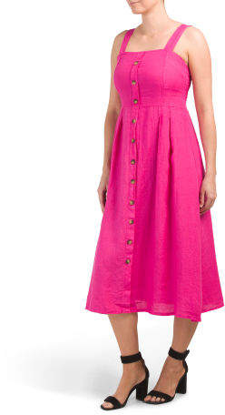3c524ec4e70 Made In Italy Linen Dress - ShopStyle