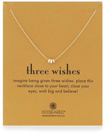 Dogeared Three Wishes Pendant Necklace