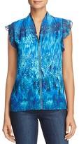 Elie Tahari Judith Printed Silk Top