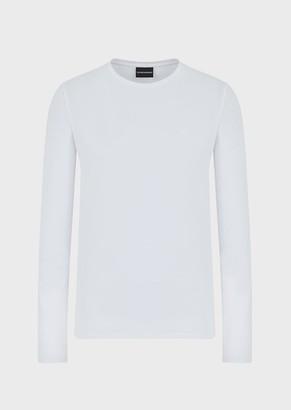 Emporio Armani Sweater In Stretch Cotton Jersey