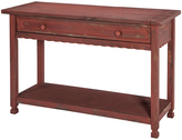 Antique Red Country Cottage Media Table