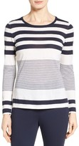 Nordstrom Women's Engineered Stripe Cashmere Pullover