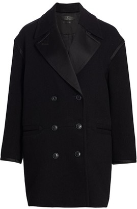 Rag & Bone Laura Ribbed Virgin Wool Coat