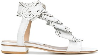 Rue St Laser Cut Sandals