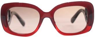 Prada Burgundy Plastic Sunglasses