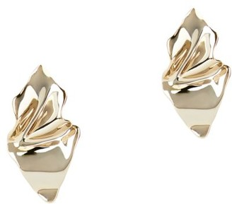 Alexis Bittar 10K Goldplated Crumpled Metal Stud Earrings