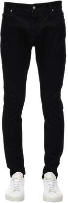 Balmain 15cm Washed Slim Cotton Denim Jeans