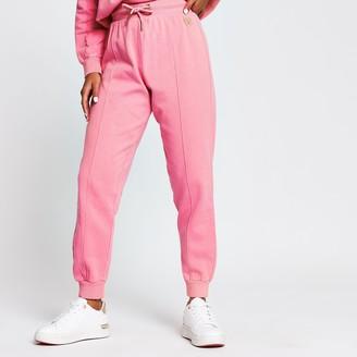 River Island Womens Petite Pink seam detail joggers