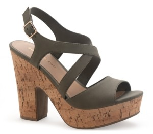 Sun + Stone Janayy Crossband Platform Dress Sandals, Created for Macy's Women's Shoes