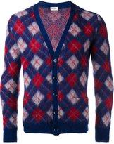 Saint Laurent argyle cardigan - men - Nylon/Mohair/Wool - XS