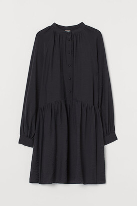 H&M Long-sleeved Dress - Black