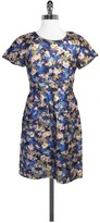 J.Crew J. Crew Collection MultiColor Floral Print Wool & Silk Dress