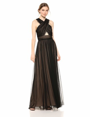 BCBGMAXAZRIA Azria Women's Beaded Halter Gown