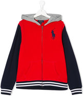 Ralph Lauren branded zip-up hoodie - kids - Cotton - 14 yrs