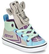 Feiyue DELTA MID ANIMAL Grey / Blue / Purple