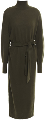 Zimmermann Belted Wool-blend Midi Dress