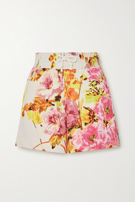Dries Van Noten Floral-print Cotton-jersey Shorts