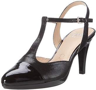 Caprice Women's 29608 Wedge Heels Sandals, Black Rept Com