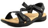 Earth Origins Stella W Open-toe Leather Slingback Heel.